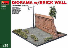 MODEL KIT DIORAMA MIN36055 - Miniart 1:35 - Diorama With Brick Wall