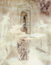 Street with Hidden Beings   by Remedios Varo   Paper Print Repro