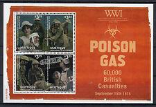 Mustique Grenadines St Vincent 2014 MNH WWI Poison Gas 4v M/S Stamps