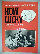 "The Uniques ""How Lucky (Can One Man Be)"" PRINT AD - 1968"