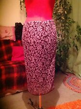 "M & S AUTOGRAPH lacy evening party pencil skirt,10, 38, Length 28"", worn once,"