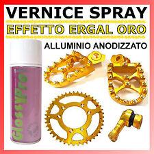 VERNICE SPRAY EFFETTO ERGAL ORO - ALLUMINIO ANODIZZATO 400ml. PROFESSIONALE