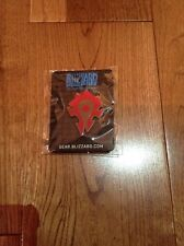 World Of Warcraft Horde Pin Brand New Rare Promo Blizzard