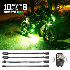 Universal 7 Color Motorcycle Underglow Neon RGB LED Flexible Strip Accent Kit