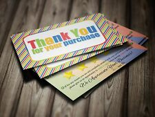 ebay Seller THANK YOU Business Cards 5 FIVE STAR Rating 100 COLORFUL Fun Cards