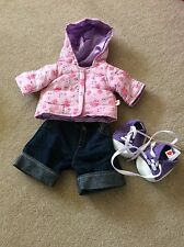 build a bear/bear factory Clothing Girls coat, jeans and pumps