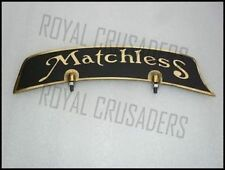 NEW MATCHLESS BRASS FRONT MUDGUARD NUMBER PLATE (CODE625)