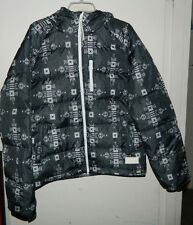 New Men Adidas Originals 3 Stripes Puffer Short Down Jacket Winter Hooded Size M