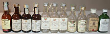 11x Whisky Mini Empty Glass Bottles Canadian Club Wisers Black White Schenley