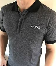 Hugo Boss Fitted Polo Top tshirt BNWT New Charcoal Grey size XL *green label*