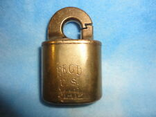 ANTIQUE BRASS MAIL REG. LOCK WITH ROTARY COUNTER (SER. # S-42581)
