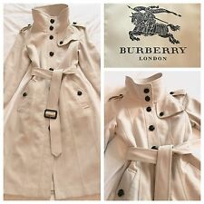 Burberry Coat Cashmere Military Grey Cream Virgin Wool Cashmere Blend Long Coat