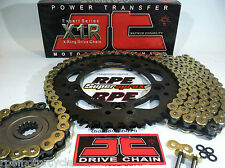 HONDA CBR600RR '07/14 JT Gold X-Ring QUICK ACCELERATION CHAIN AND SPROCKETS KIT