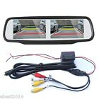 "HD 4.3"" Dual Screen Digital TFT LCD 4-CH Car Mirror Monitor For Backup Camera"