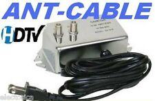 ANTENNA AMPLIFIER SIGNAL BOOSTER CABLE HD TV AMP OTA 18 dB TIME WARNER COMCAST