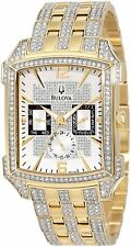 Bulova 98C109 Men's Gold Tone Crystal Chronograph Watch