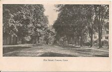 View on Elm Street Canaan CT Postcard