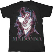 Madonna-MDNA Face + Logo Graphics-X-Large Black T-shirt