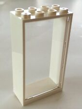 *NEW* 1 Set LEGO 2x4x6 WHITE Frame & TRANS CLEAR Door (NO STUD ON DOOR)