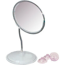 Zadro 7X Vanity or Wall Mount Gooseneck Magnifying Mirror Low Vision Easy to See