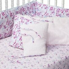 NEW SIMPLY SHABBY CHIC BABY BEDDING PETITE PAISLEY CRIB BUMPER CHENILLE PINK