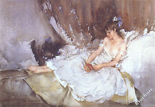 William Russell Flint Cecilia lectura Poemas Arte