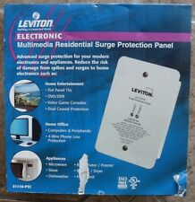 Leviton 120/240V Multimedia Residential Surge Protection Panel 51110-PTC