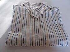 RHODE APPLE SHOW SHIRT LADIES SIZE 14 LONG SLEEVE NO COLLAR DRY CLEANED