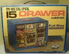 1971 HO Slotcar 15 Drawer Storage Cabinet with TJet Dune Buggy Photo Sleeve