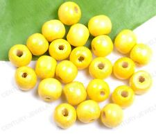 Lots 100/200PCS Bright Color Wooden Round Wood Beads 10MM 10Colors