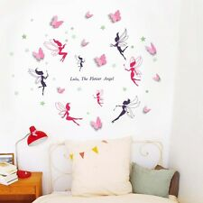 3D Butterfly Wall Stickers Paper Art Decoration Fairy Glow in the Dark Family