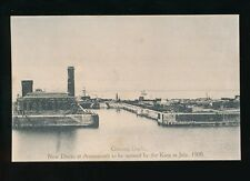 Gloucestershire Glos AVONMOUTH Graving New Docks to be opened 1908 unused PPC