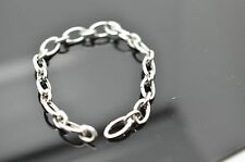 "Tiffany & Co. Solid 18K White Gold Clasping Link 7.25"" Bracelet 16.2 g Authentic"