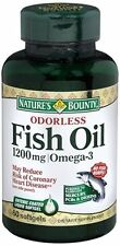 Nature's Bounty Natures Bounty Odorless Fish Oil, 60 tabs 1200 mg(Pack of 2)120