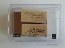 "Stampin'UP! ""YOU'RE CHERISHED"" Unmounted Stamp Set  Sweet/Cherish NEW!"