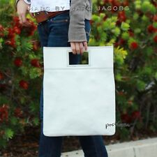 MARC BY MARC JACOBS Triple Stitch Clutch WHITE Leather Crossbody Bag NWT