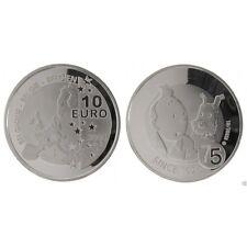 BELGIQUE 10 euro argent Tintin et Milou Hergé anniversaire 1929 - 2004 sous caps