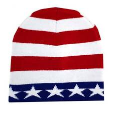 American Flag Beanie USA Red White & Blue Knit Hat Punk Rock Snowboard Headgear