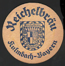 OLD BEER COASTER 1954 REICHELBRÄU GERMANY TEGESTOLOGY .MORE IN MY EBAY STORE 002