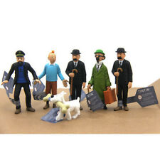 6PCS  The Adventures of Tintin PVC Action Figures Collectible Toys Kids New