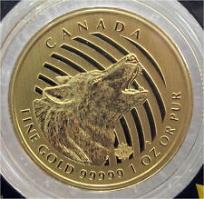 2014 CANADA $200 DOLLARS GOLD COIN HOWLING WOOLF 1 OZ.PURE 99999
