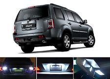 White LED Package - License + Vanity + Reverse for Honda Pilot (8 Pcs)
