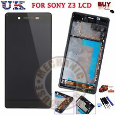 For Sony Xperia Z3 D6603 Display LCD Black Touch Screen Digitizer Frame Assembly