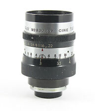 "Yashica Yasinon 38mm f1.9 (Zunow design) ""d mount"" Cine lens"