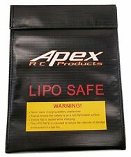 Apex RC Products 230mmX300mm Jumbo Lipo Safe Fire Resistant Charging Bag #8080