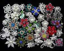 Wholesale 40pcs Crystal Rhinestone Brooch Pin Bridal Wedding Bouquet Decor Favor