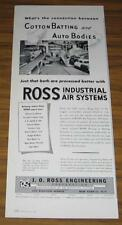 1954 VINTAGE AD~ROSS INDUSTRIAL AIR SYSTEMS~AUTO ASSEMBLY LINE