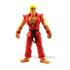 "Kids Gift JAZWARES STREET FIGHTER KEN 4"" ACTION FIGURE RED Collection Toy F113"