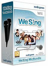 Nintendo Karaoke Wii Game We Sing Vol. 1 + 2 Micros Microphones New