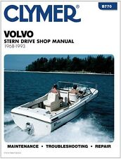 CLYMER VOLVO GM 305 V8 AQ200D INBOARD OUTBOARD SERVICE SHOP REPAIR MANUAL 68-93